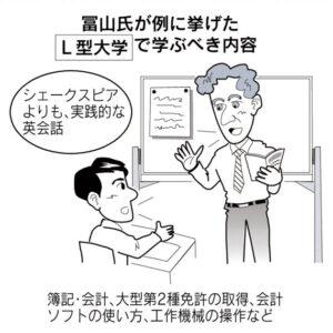 20150527_冨山氏が例に挙げたL型大学に学ぶべき内容_日経新聞