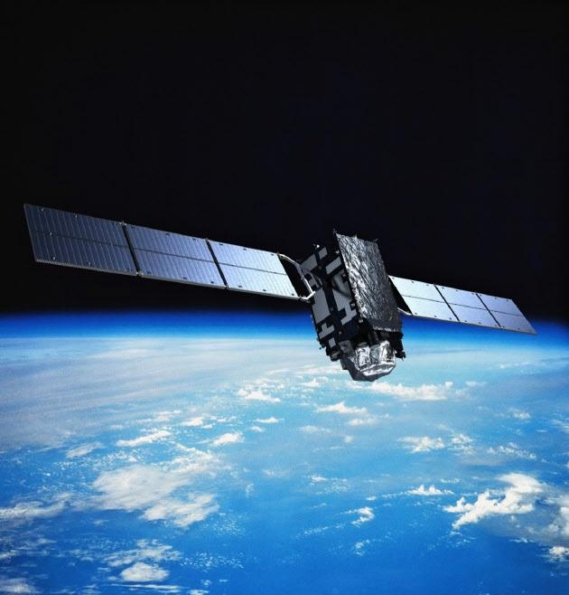 準天頂衛星の初号機「みちびき」のイメージ(三菱電機提供)