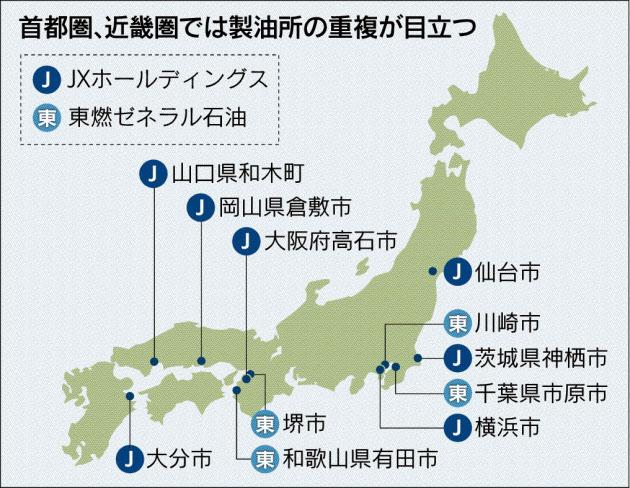 20151117_首都圏、近畿圏では製油所の重複が目立つ_日本経済新聞朝刊
