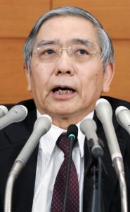 20160130_記者会見する日銀の黒田総裁_日本経済新聞朝刊