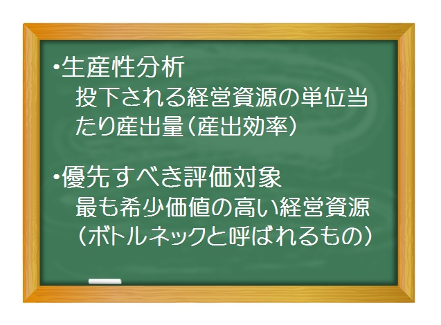 財務分析(入門編)_生産性分析(1)生産性分析とは - 制約理論(TOC)で生産性の本質を考えよう!