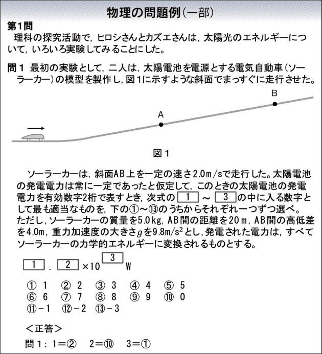 20160218_大学入試新テスト問題例_物理_日本経済新聞朝刊