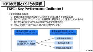 経営管理会計トピック_KPIの定義とCSFとの関係