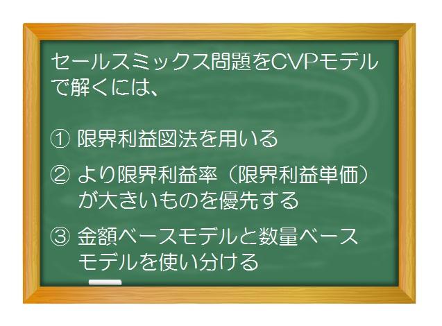 財務分析(入門編)_CVP分析/損益分岐点分析(9)利益最大となるセールスミックスをCVPチャートで表現する方法