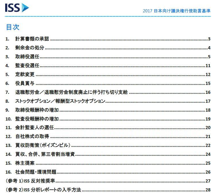 20170716_2017年板日本向け議決権行使助言基準_目次_ISS