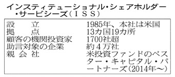 20170712_インスティチューショナル・シェアホルダー・サービシーズ(ISS)_日本経済新聞朝刊