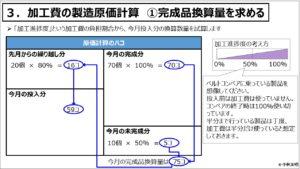 原価計算(入門編)_加工費の製造原価計算 ①完成品換算量を求める